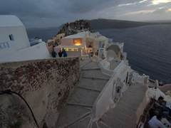 Dusk view of Oia's sunset point