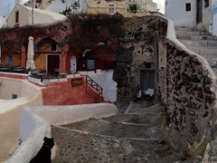 Panoramic of the countless steps of Oia