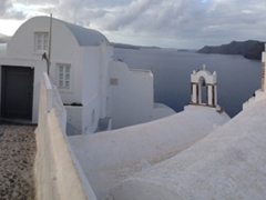 We loved getting lost in Oia's back streets...there were always fabulous views to behold