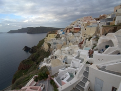 Early morning view of sleepy Oia
