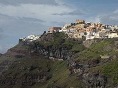 Firostefani village offers a fantastic lookout point to soak up the sights of Fira