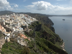 Admiring Fira from the Firostefani lookout point