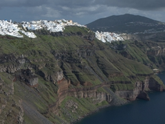 Close up of the cliffs of Firostefani & Fira