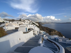 There are countless upscale resorts on the outskirts of Oia, many with private infinity pools