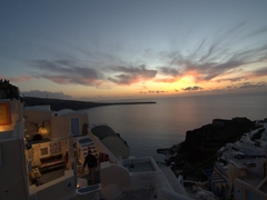 Sunset over Oia