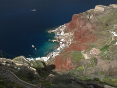 Looking down on Ammoudi Bay