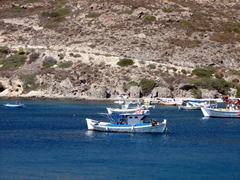 Caiques in the Adamas harbor