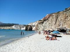 Sun worshippers soaking in the rays at Firiplaka Beach