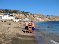 Bob, Ann and Robby took at dip at Paleohori Beach