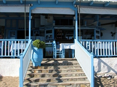 Entrance to Sirocco restaurant; Paleohori Beach