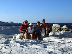 Group photo; Sarakiniko Beach