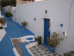 Scenic walkway (love the blue/white motif); Plaka