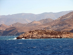 Naxos's coast and the Temple of Apollo
