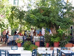 Lovely shaded restaurant; Halki