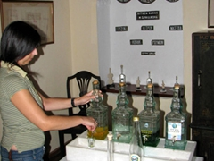 Free samples of citron; Vallindras Distillery in Halki