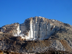 On our return trip, we saw this stone quarry where chunks of stone have been taken piecemeal from the mountain