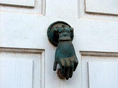 Another of the many different styles of door knockers; Kastro