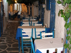 Only to chance upon Naxos's most romantic dinner spot, the Lucullus Taverna