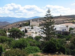 The village of Lefkes was created as Parians moved inland to escape plundering coastal pirates in the 19th century