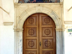 Entrance to Agias Trias Cathedral