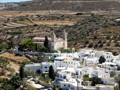 One final view of Lefkes...notice that Agias Trias Cathedral dominates over the entire village?