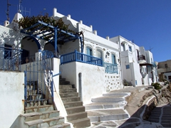 Typical white washed houses in Naoussa