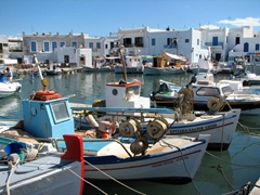 We loved Naoussa's scenic harbor...one of our favorites in Greece
