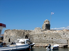 This fort stands behind Naoussa's harbor