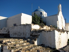 An old church; Parikia's Frankish Kastro