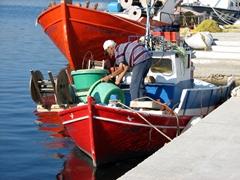 Local fisherman in Livadi bay
