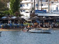 Livadi's unpretentious harbor