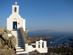 Agios Ioannis Theologos Church is one of Hora's highlights. The views from here are simply amazing