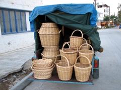 Handmade baskets for sale; Livadi