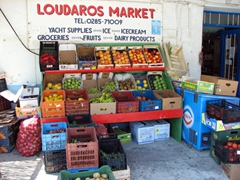 A convenient place to stock up on our lunch supplies; Katapola