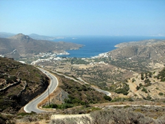 Amorgos's windy roads offer dramatically steep coastal scenery and splendid views