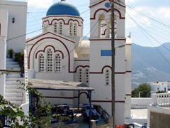 The Agioi Anargyroi Church is the most impressive building in Tholaria