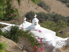 Classic whitewashed churches can be found throughout Amorgos