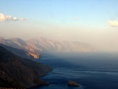 A dramatic view of Amorgos's east coast