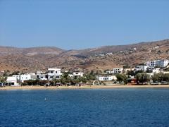 The empty beach of Gialos