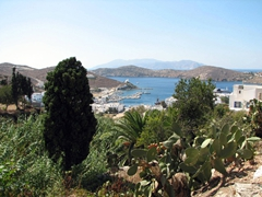 View of Ormos harbor