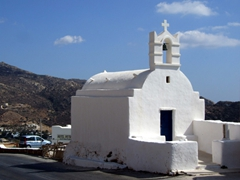 This church was literally built right on the road leading from Hora to Mylopotas