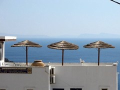 Rooftop view of a hotel near Mylopotas