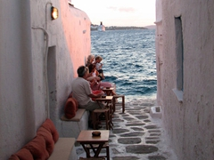 Cosy Katerina's Bar is a great place to down a drink or two as the sun sets