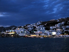The night is young and the parties are about to get started on party island Mykonos