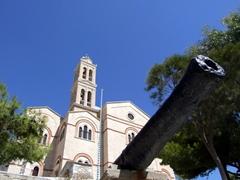 It was a bit weird seeing a cannon beside a church; Anastasis  Greek Orthodox Church
