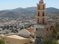 Another church tower; Ano Syros
