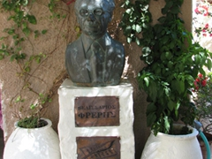 Monument to a famous local author; Ano Syros