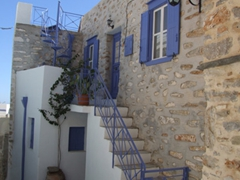 The houses in Ano Syros are tightly cluttered together