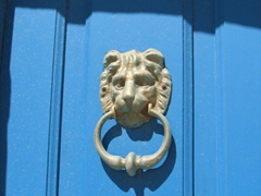 Another cool door knocker in Ano Syros
