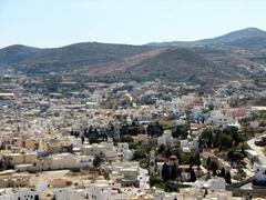 View of the Ermoupolis suburbs